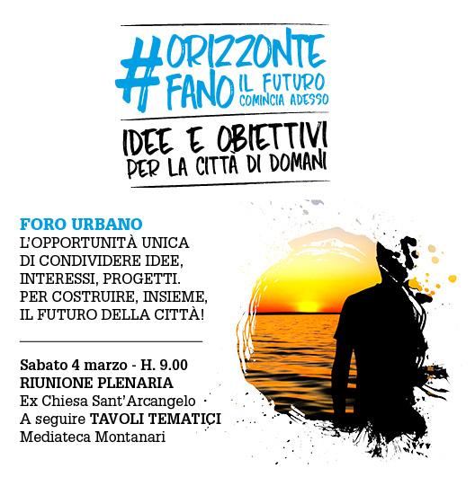 """#ORIZZONTEFANO: in 150 per """"Foro Urbano"""""""