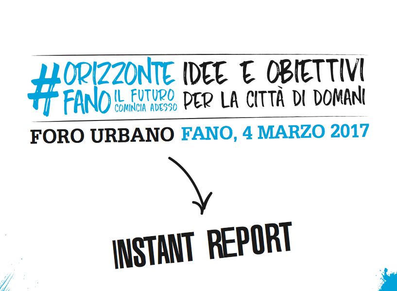 Foro Urbano: i verbali dell'Ost di #ORIZZONTEFANO